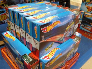 Boxes of Hot Wheels