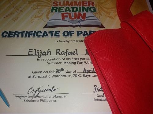 Summer Reading Fun Certificate