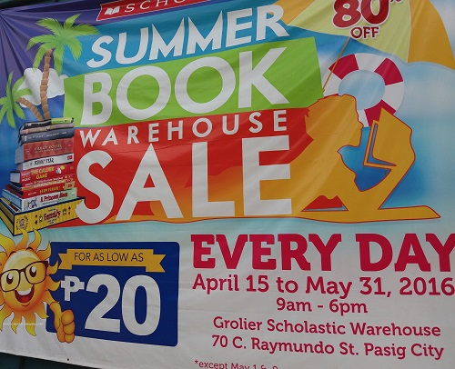 Scholastic Warehouse Sale 2016