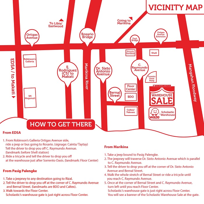 vicinity map red white square