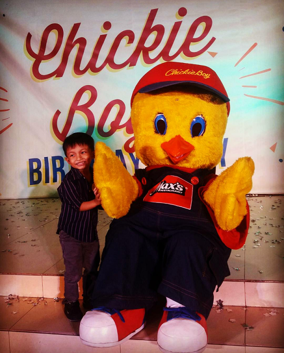 Elijah with Chickie Boy