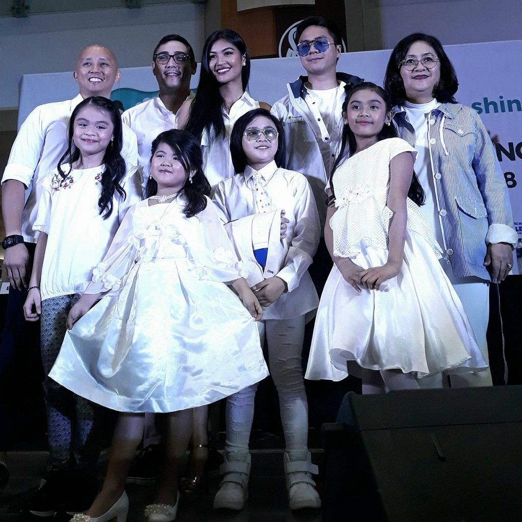 (L-R ) Mr. Ricardo Ocampo of National University, Mickey Perz, Winwyn Marquez, Sam Concepcion, Ms. Grace Magno (SM's VP for Advertising), Esang De Torres,  Chun Sa Angella Jung, JC Gumacal and Gaea Mischa Salipot